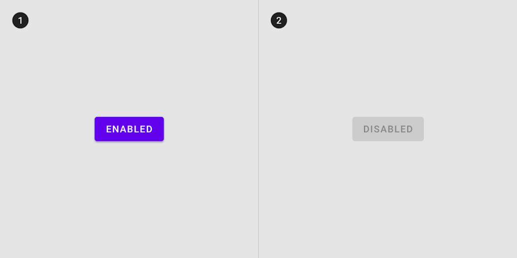 Enable and Disabled state buttons