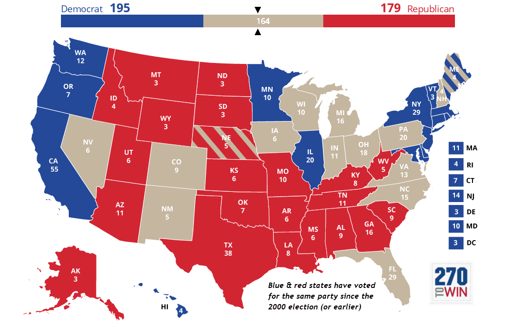 What Are The Red And Blue And Purple States