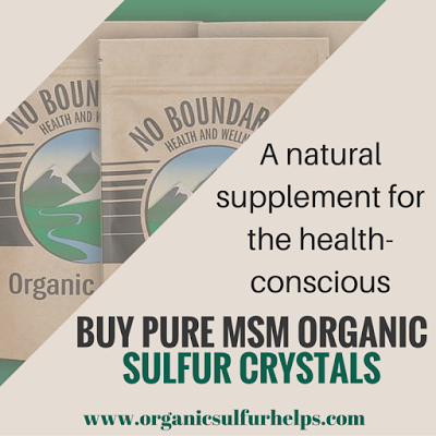 Do Your Research -Before Buying Pure MSM Organic Sulfur Crystals