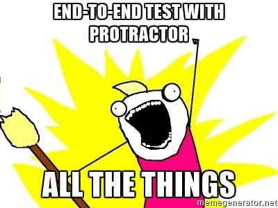 End-to-end testing with protractor for nonangular