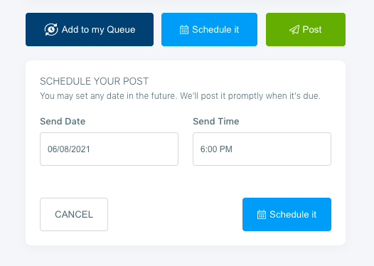 You can schedule your tweets for multiple Twitter accounts at once.