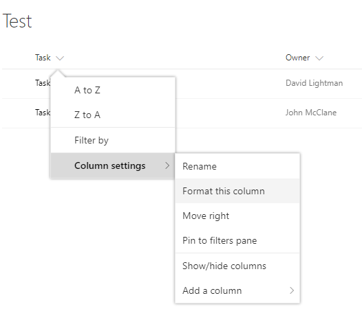 SharePoint Online New Column Formatting Capabilities