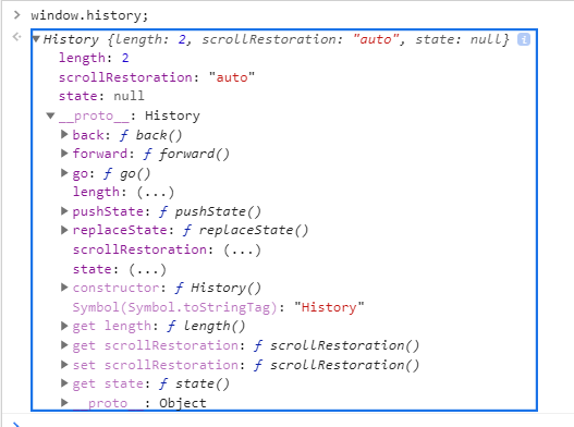 The window.history Object in JavaScript.
