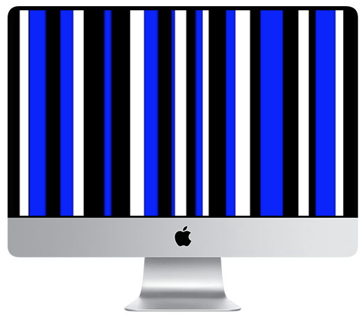 iMac graphics issue, stripes on the screen