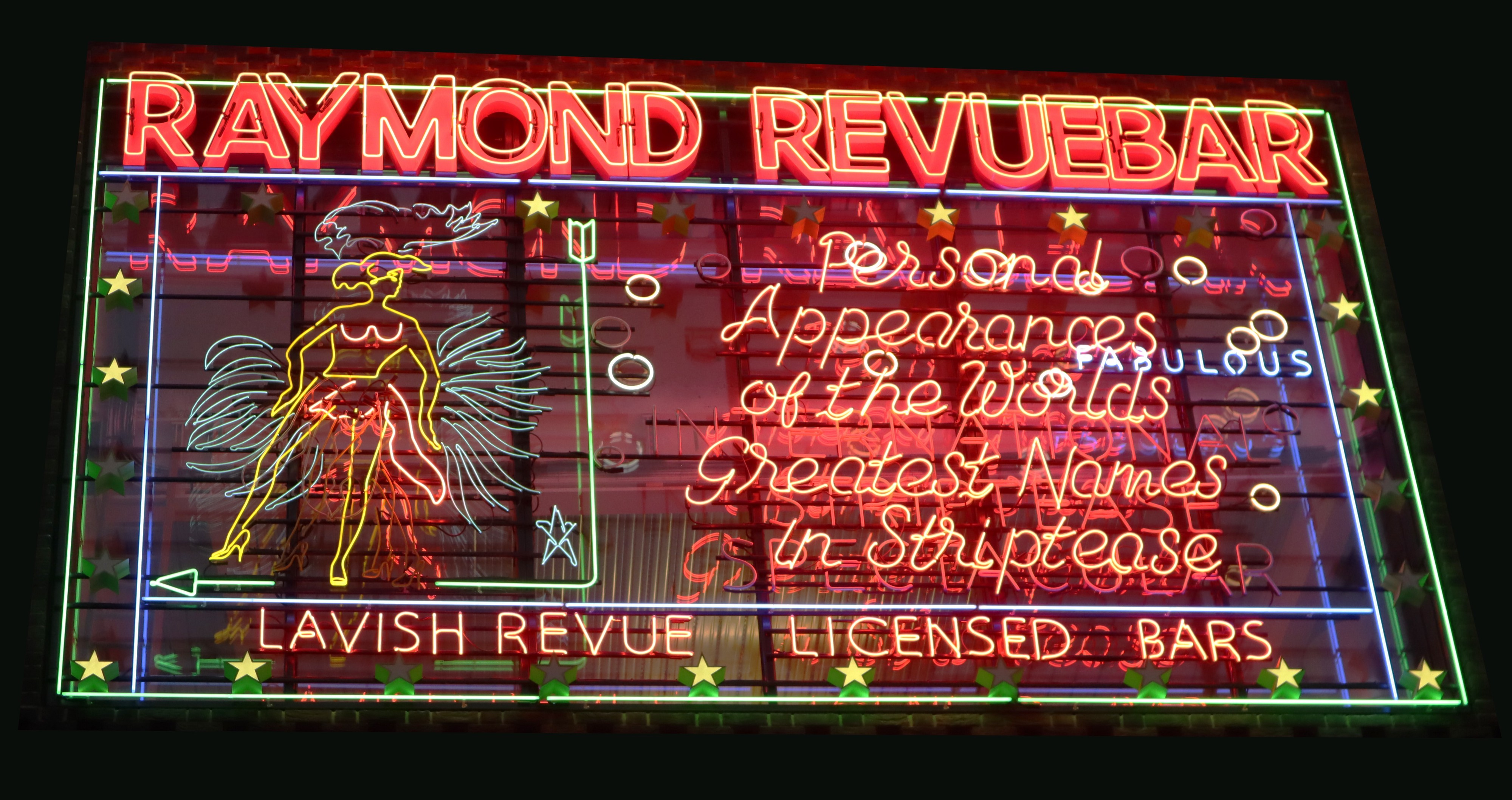 neon sign for strip club