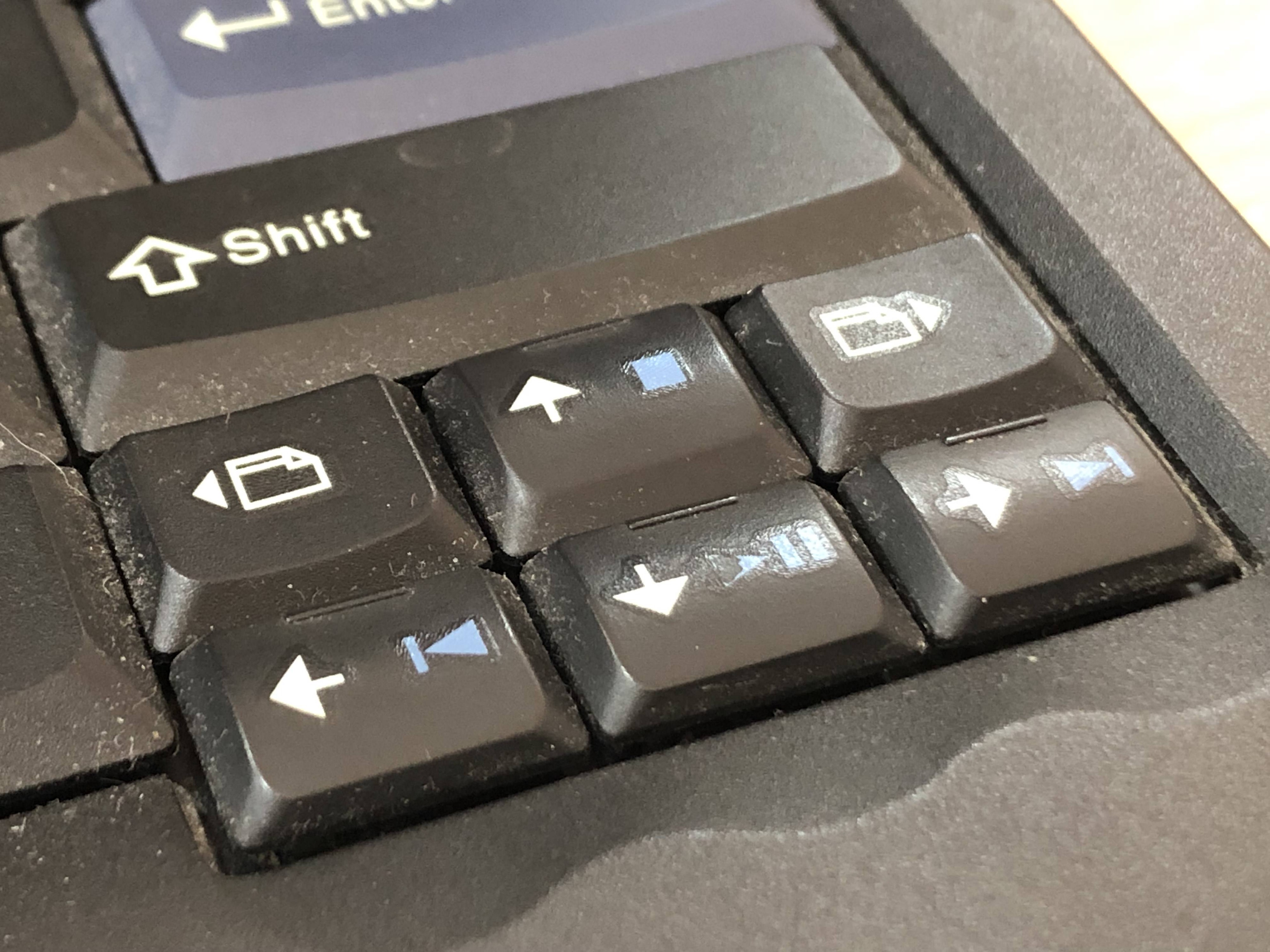 Remap page back / page forward keys on a Thinkpad keyboard
