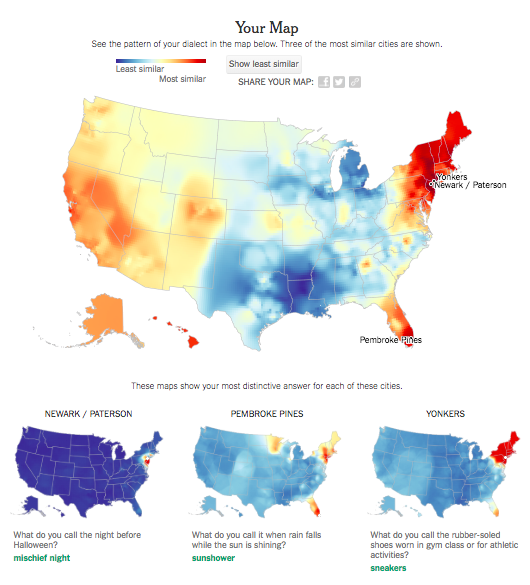 The Data Science Behind the New York Times' Dialect Quiz, Part 1