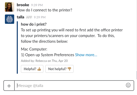 Enterprise Bot Experimentation: How Talla Thought About