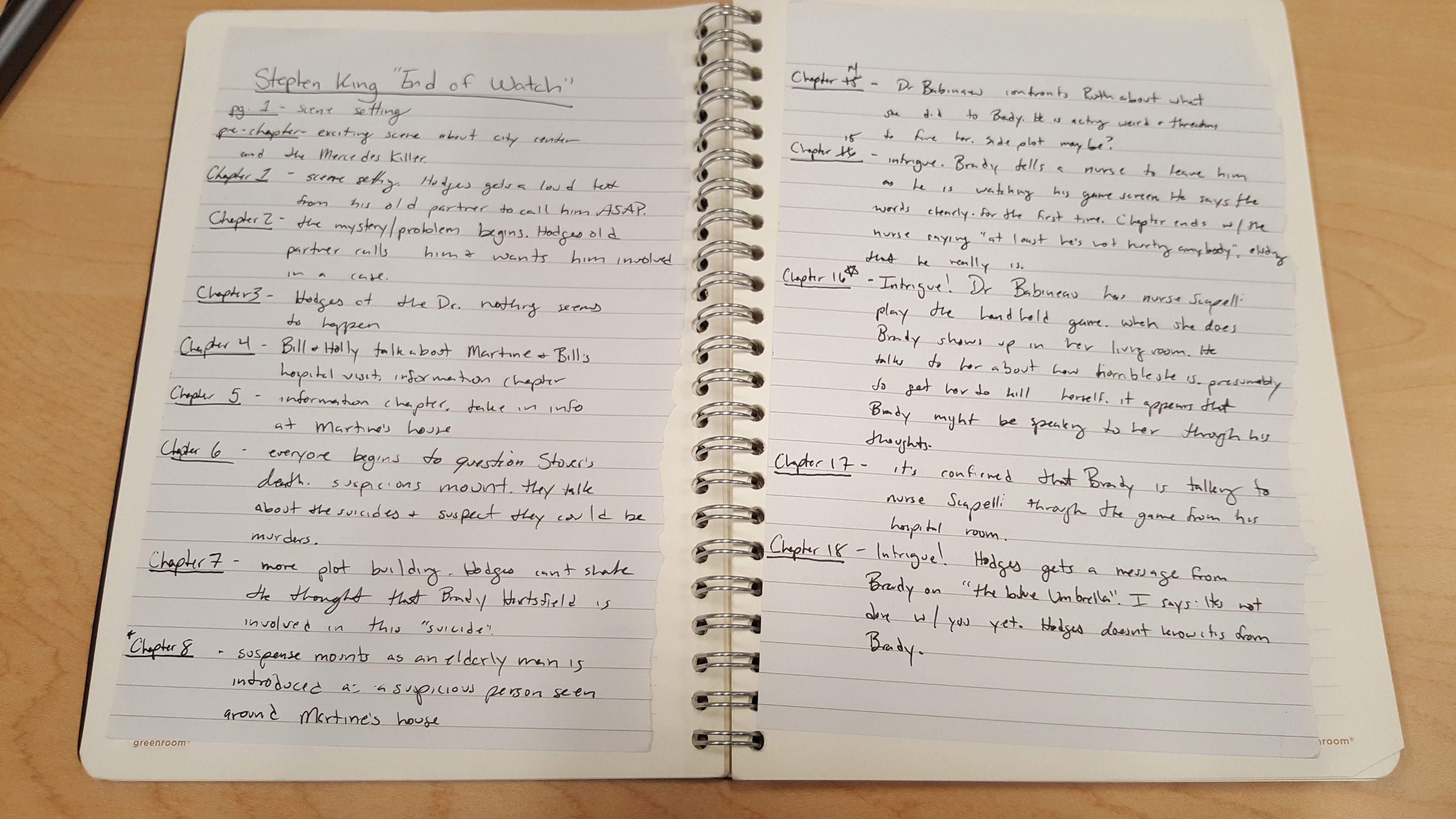 I Took Notes on Every Chapter of a Stephen King Novel