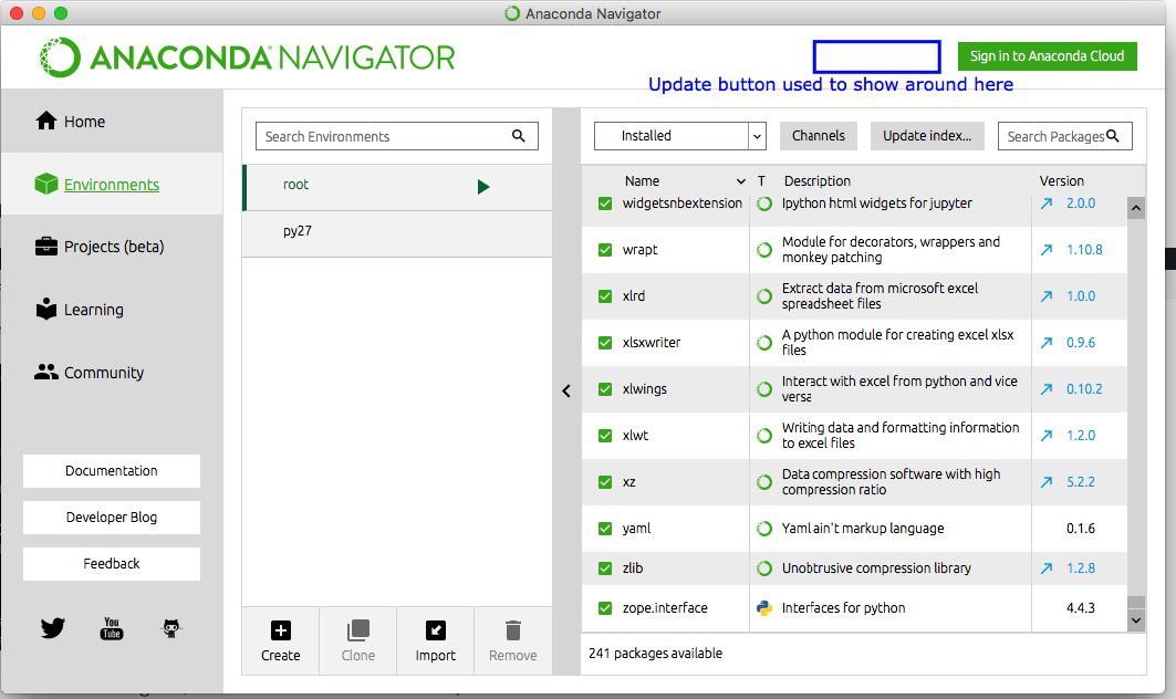 Python] How to update Anaconda Navigator with command line