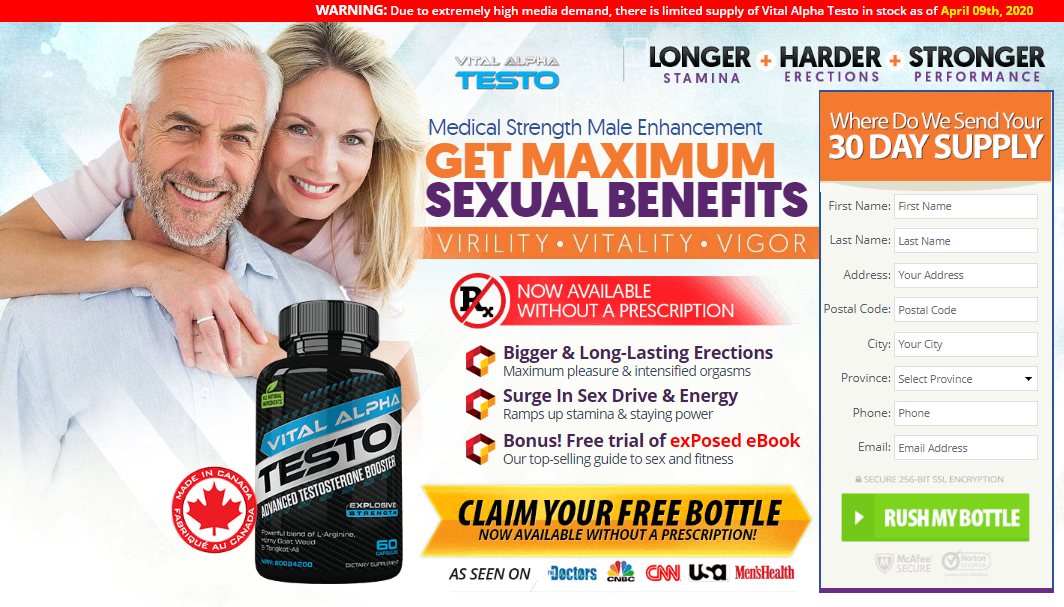 Vital Alpha Testo Reviews Canada — Side Effects, Ingredients