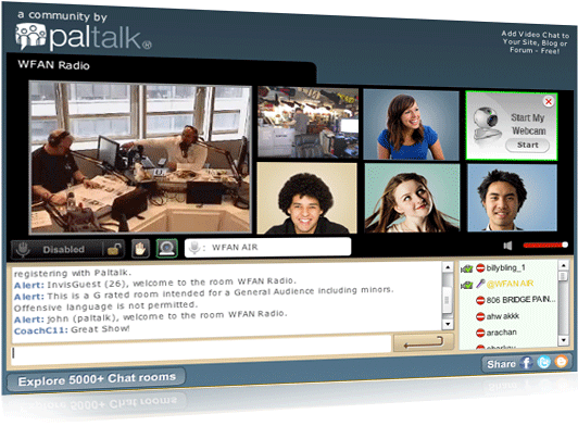 Video chat online room