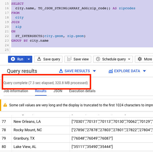 Efficient spatial matching in BigQuery - Google Cloud