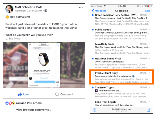 Facebook Plays a Game of Chess with Apple - Chatbots Magazine