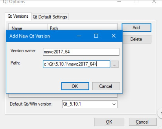How to Setting Qt GUI using C++ with Visual studio 2017