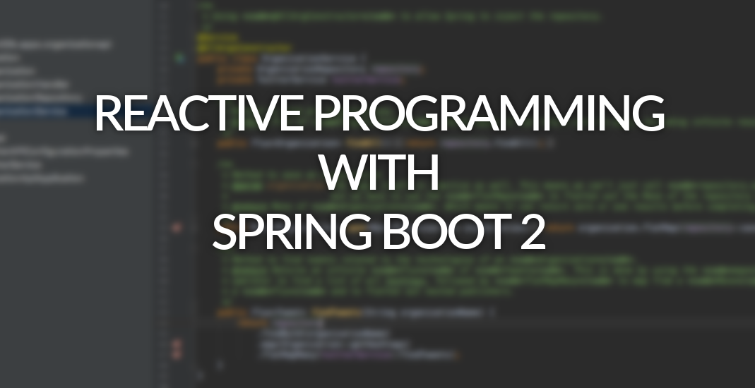 Reactive programming with Spring boot 2 - optis