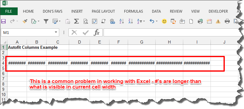 Microsoft excel tip auto fit columns the easy way typical column width formatting issue in excel ibookread Read Online