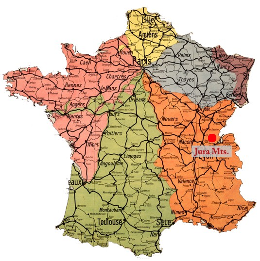 Map Of France Jura.Five Hundred Years Of Gem Cutting In The Mountains Of Jura
