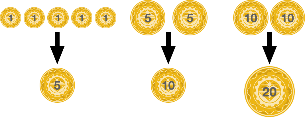 min number of coins