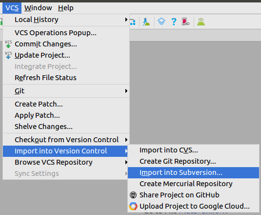 Import Android Studio project in SVN (Subversion) - IndiaNIC