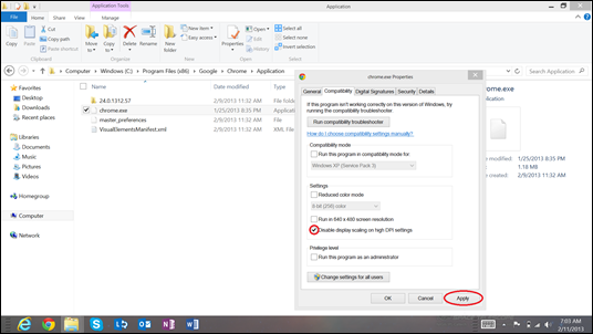 How to Adjust Windows 8 Display Settings for High DPI/PPI