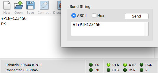 Setting a PIN Code on the AT-09 BLE module - Yassine