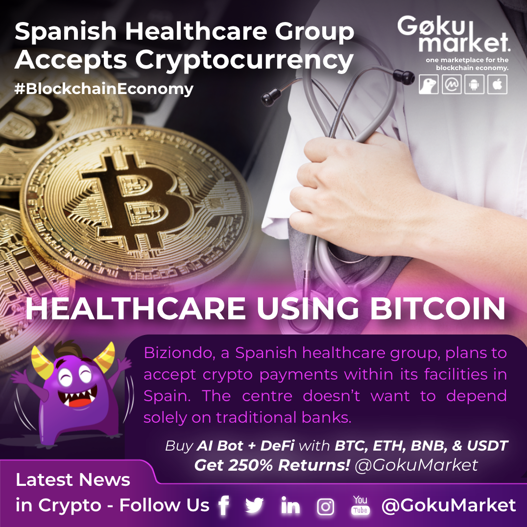 Spanish Healthcare Group Accepts Cryptocurrency