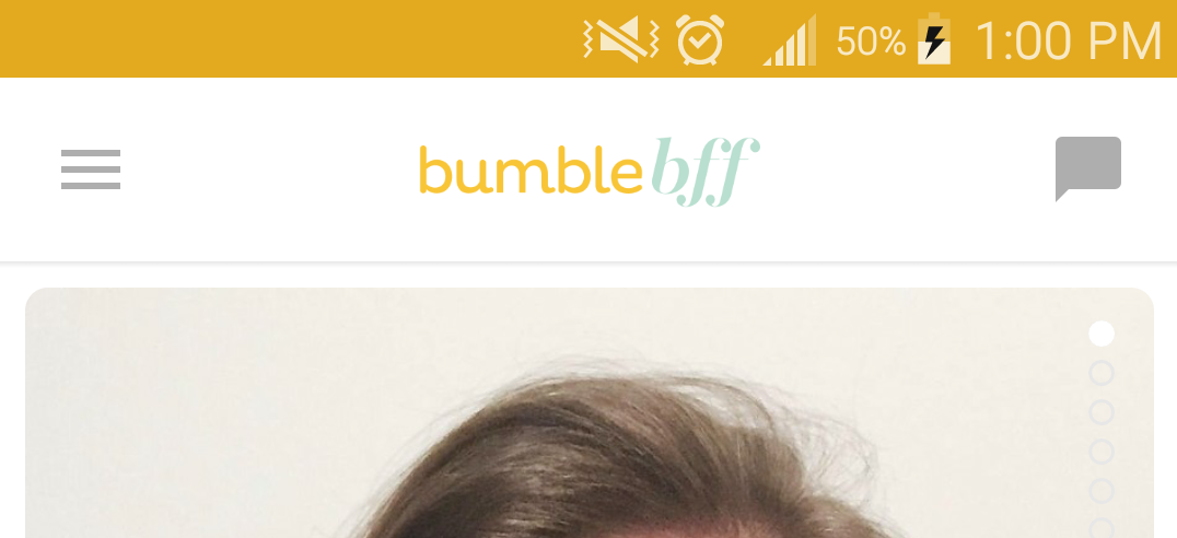 I'm using Bumble BFF to meet friends… and still haven't met