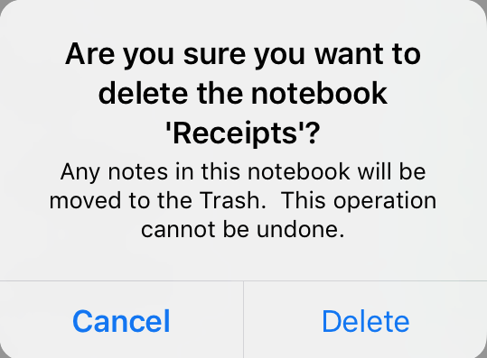 So you've deleted an Evernote notebook - David T  Kearns PhD