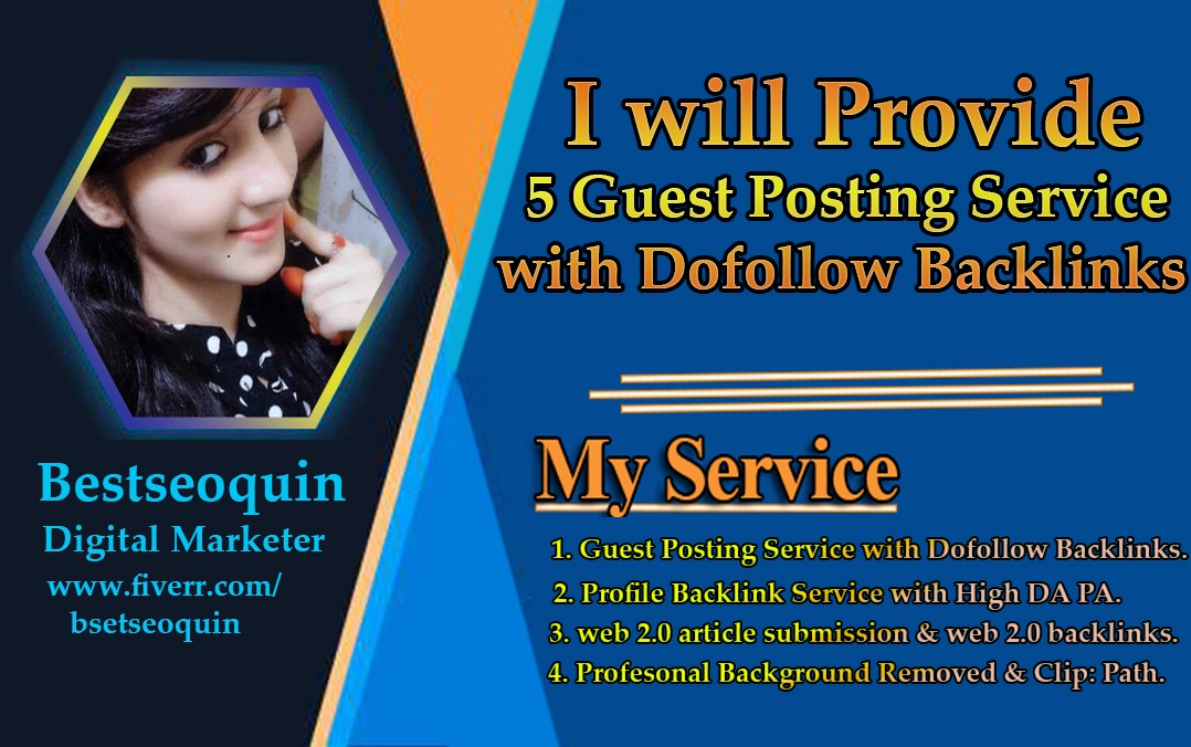 I Will Provide You Best Quality Guest Posting Service With Dofollow  Backlinks | by johurul islam | Medium