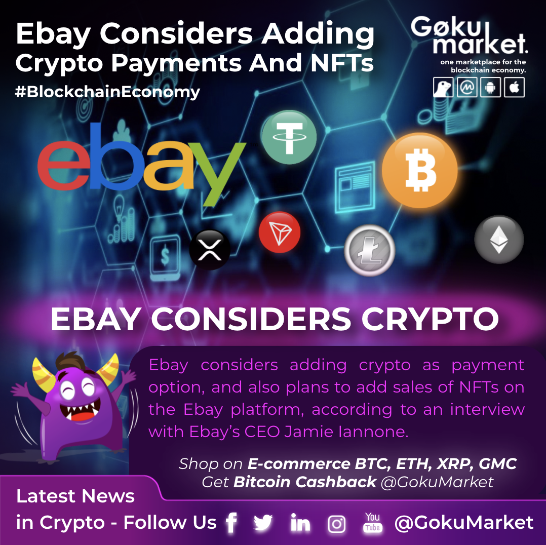 eBay Considers Adding Crypto Payments And NFTs