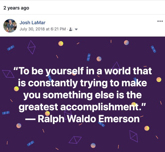 """""""To be yourself in a world that is constantly trying to make you something else is the greatest accomplishment."""" Quote"""