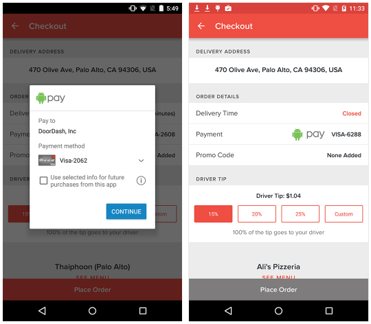 DoorDash, Now with Android Pay - DoorDash - Medium