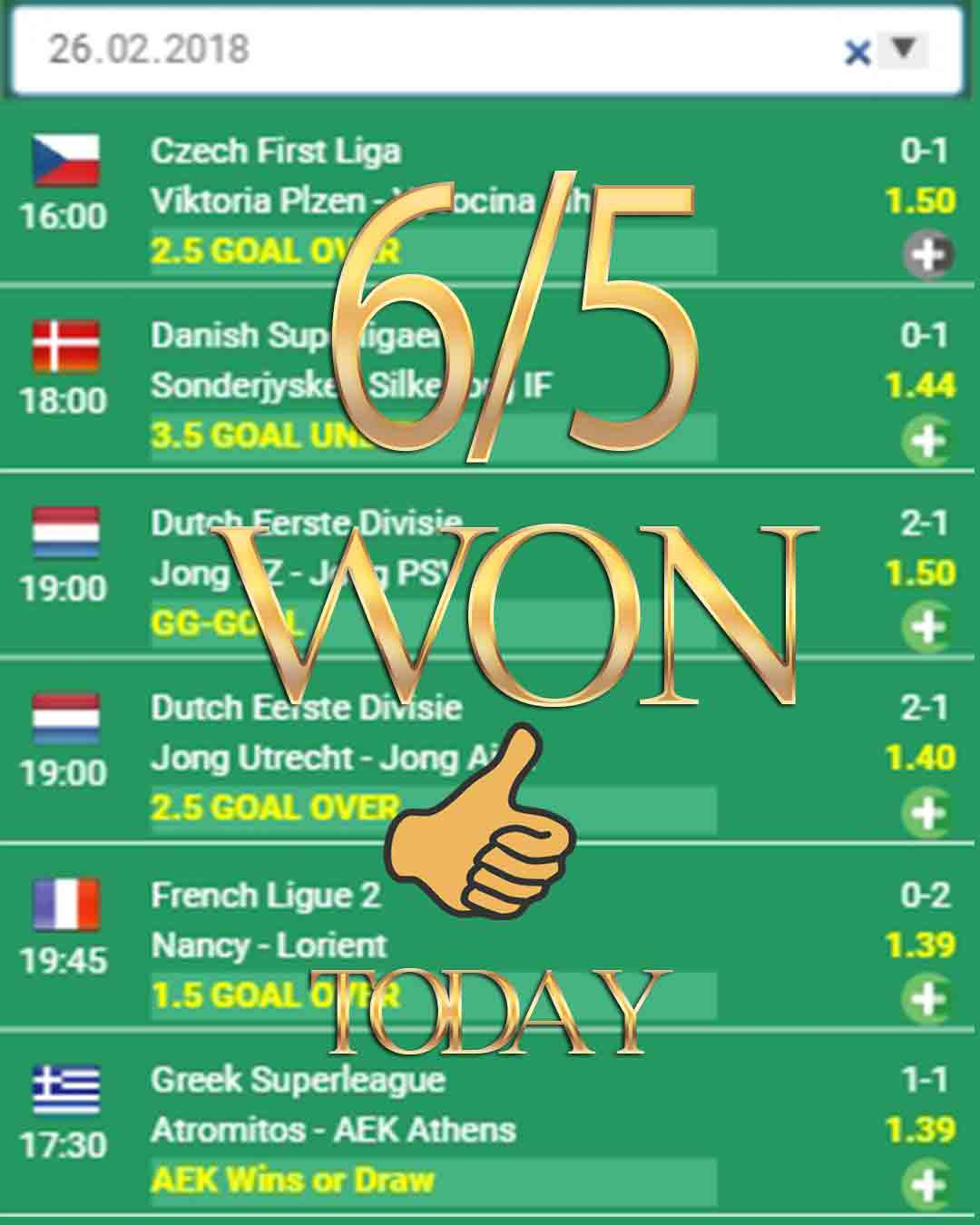 Super Scout Betting Tips — 6/5 WON — Daily Bet Predictions