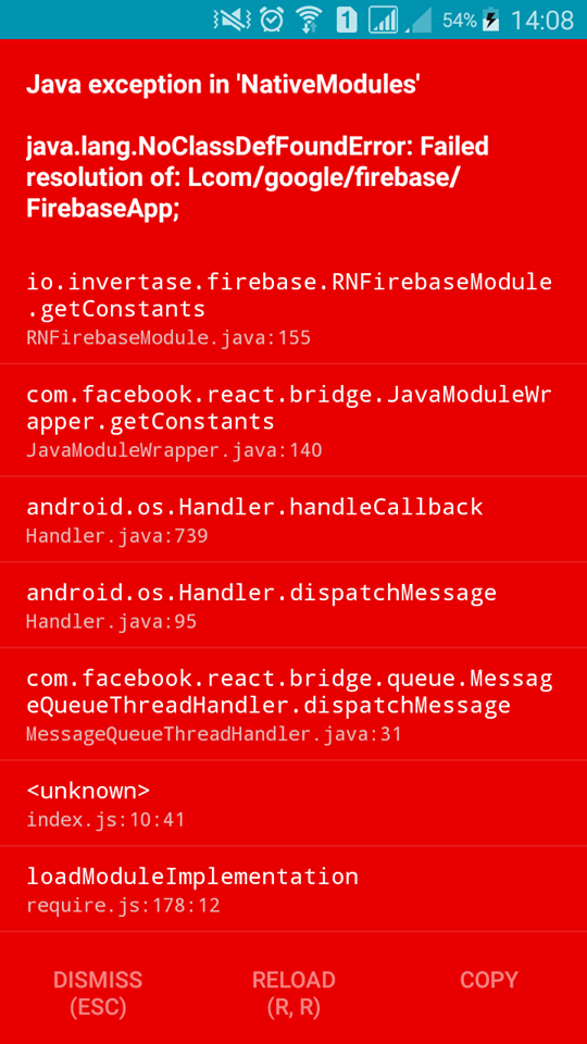 React native app with facebook sdk login and firebase storage