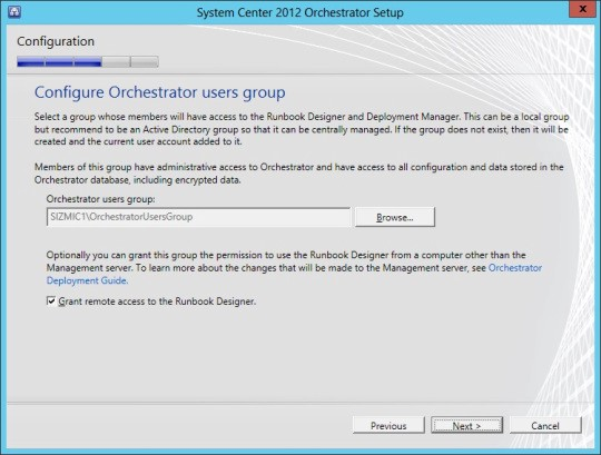 Microsoft System Center Orchestrator (SCCM) Installation on