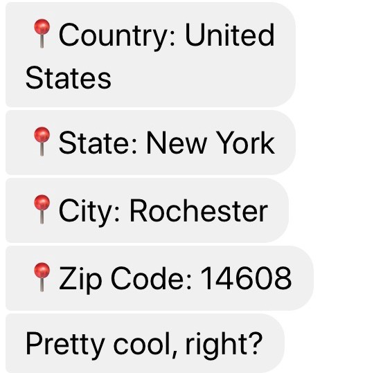 Boost eCommerce sales with Manychat when users share their location