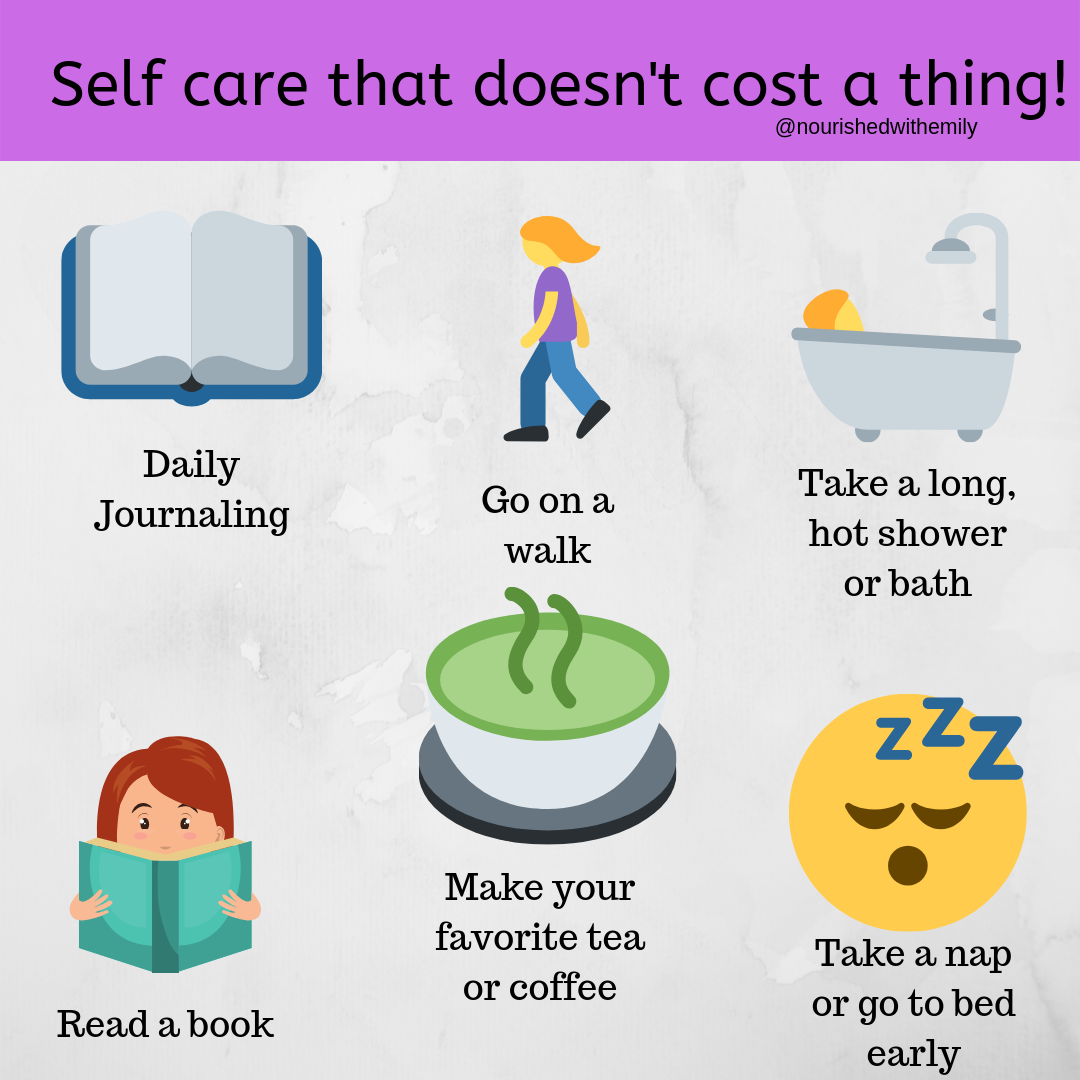 Practice self-care to improve your steps to success.