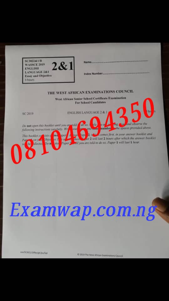 CORRECT WAEC 2020 Expo Answers 2020/2021 WAEC Runs – May/June WASSCE