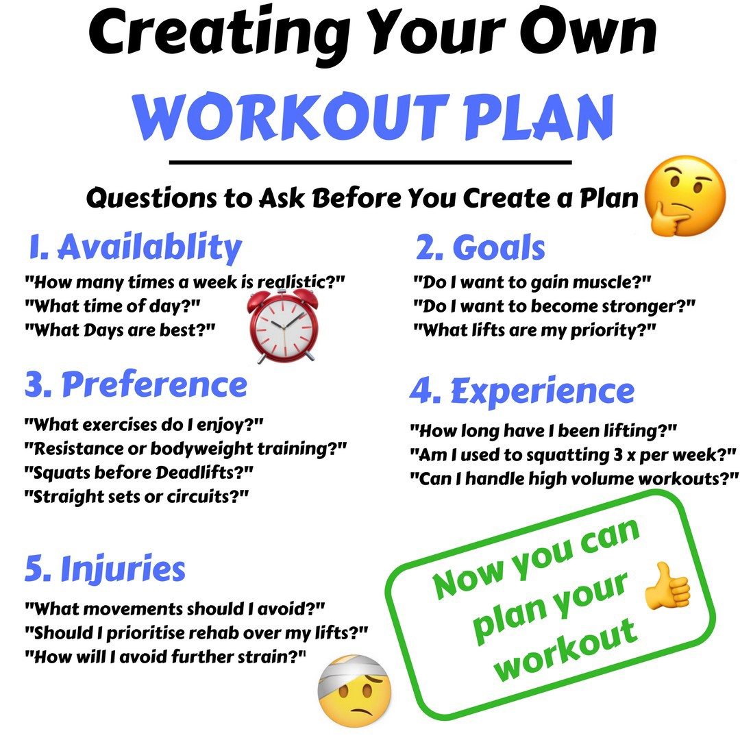 5 Things to Consider When Creating your Workout Plan: