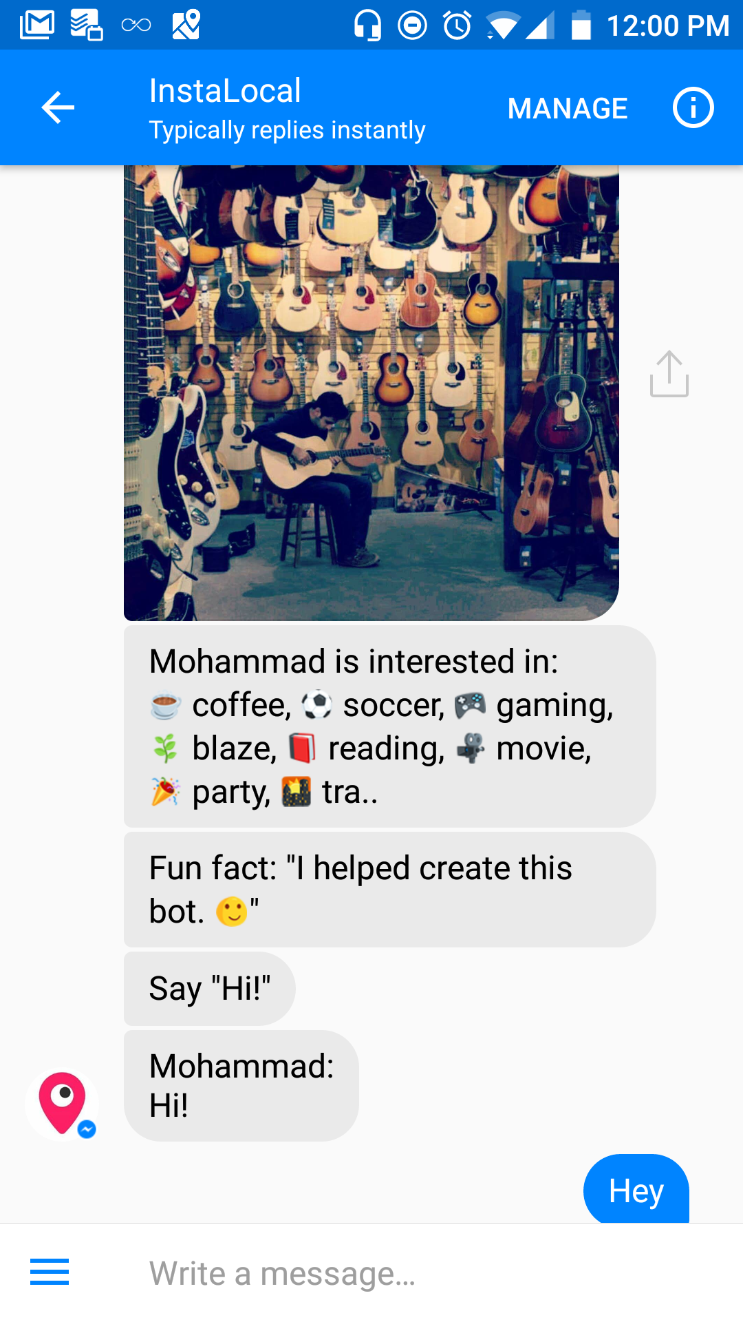 🔥 InstaLocal  Connecting locals with FB Messenger Bot
