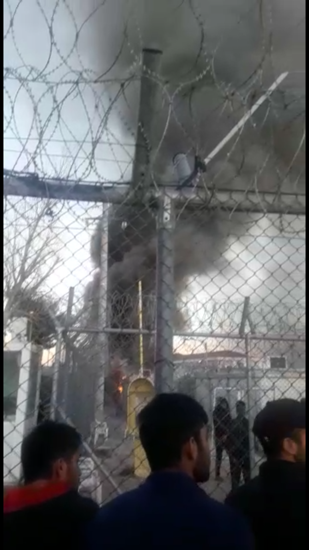 Amygdaleza is burning—photo report from a Greek immigration detention centre