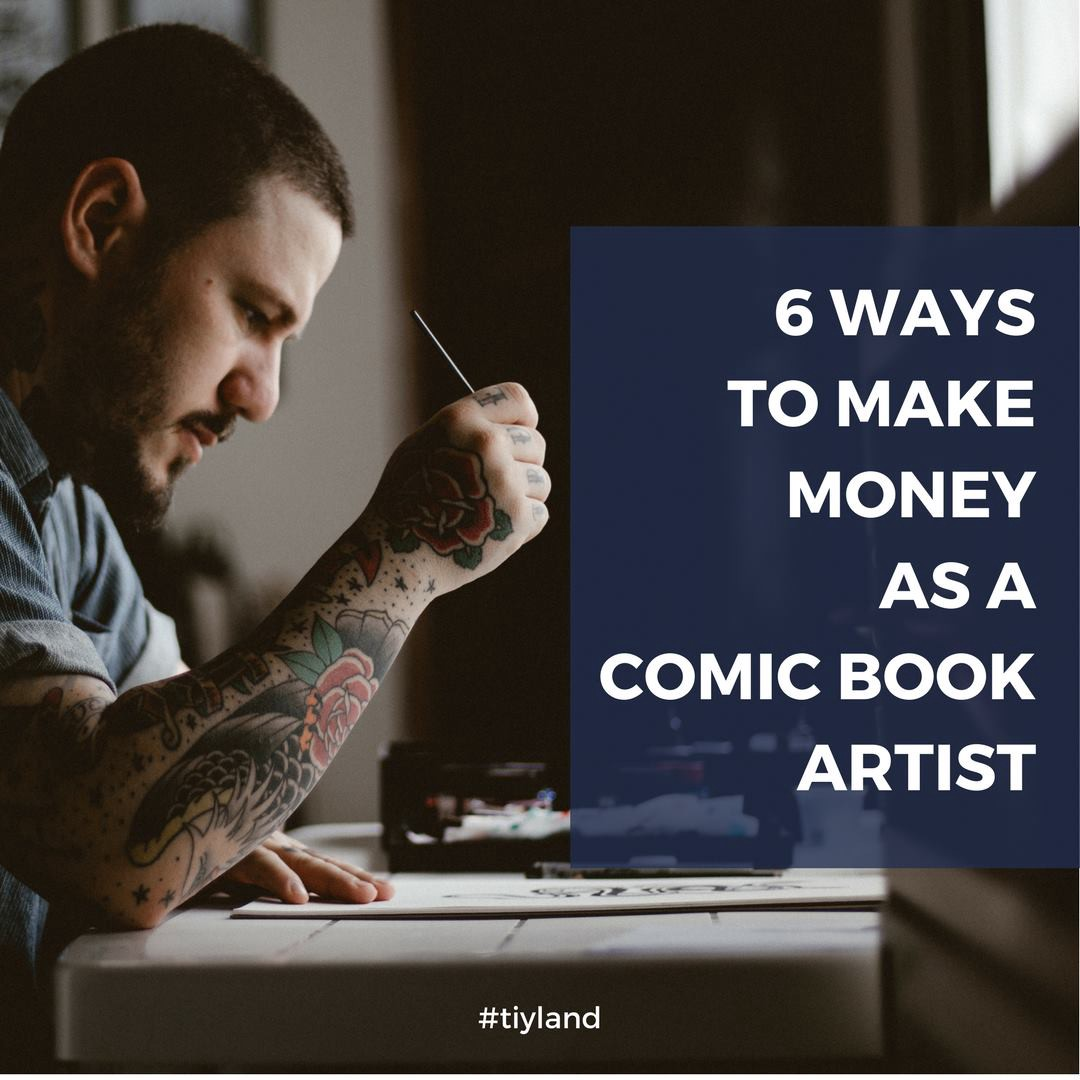 how to make money as a comic artist
