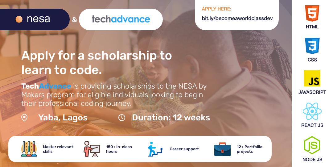 Announcing the TechAdvance & NESA by Makers Scholarship for