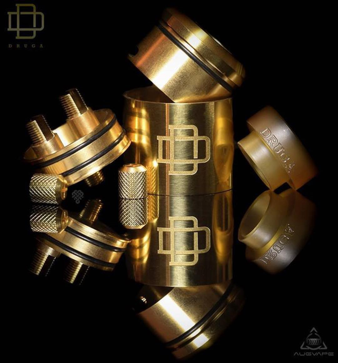 Druga RDA Atomizer Tank 24mm features with Clamp Snag System
