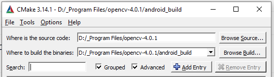 Build opencv4 0 1 & opencv_contrib for Android on Windows
