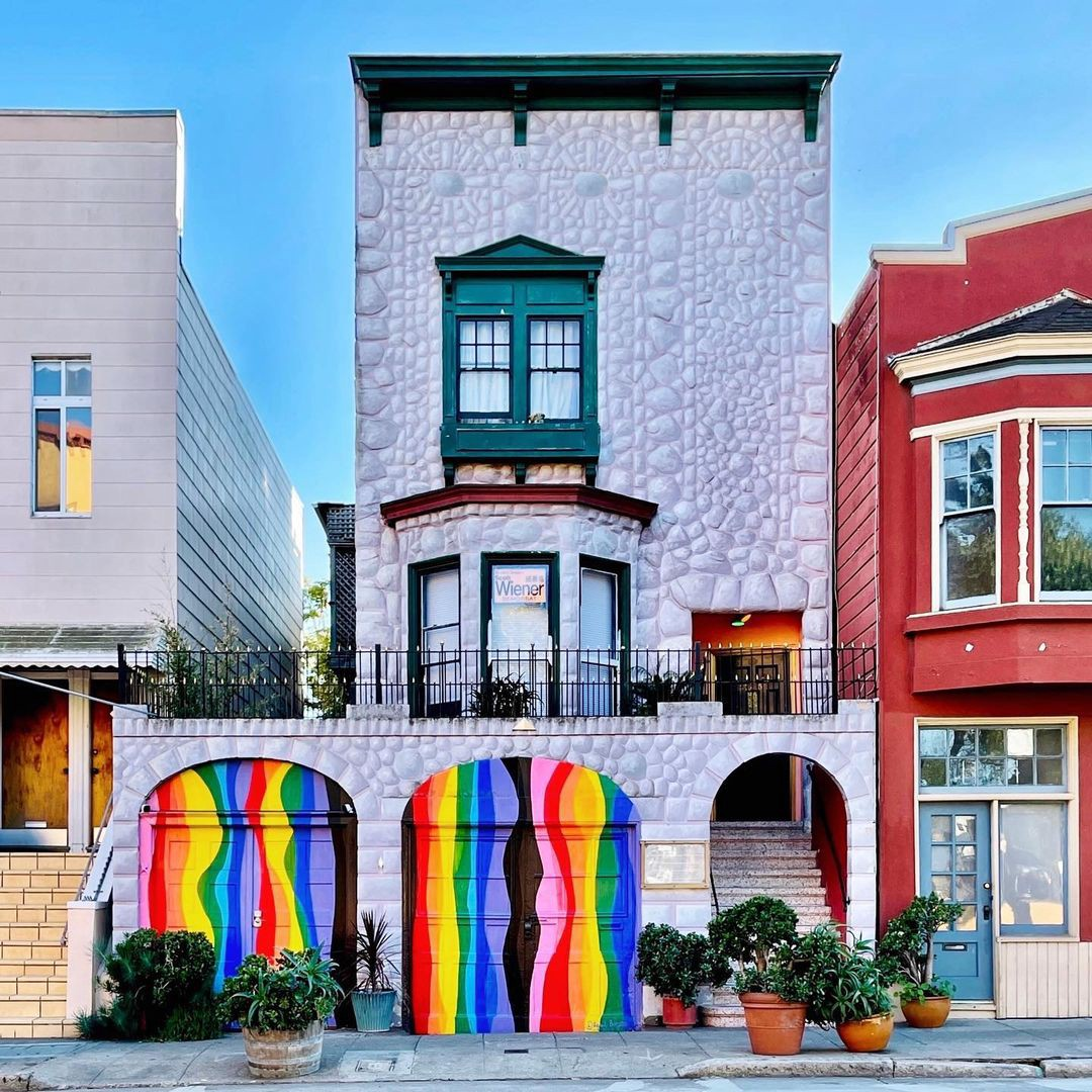 This Castro Home With Rainbow-Themed Garage Doors Is a Whole Pride Vibe