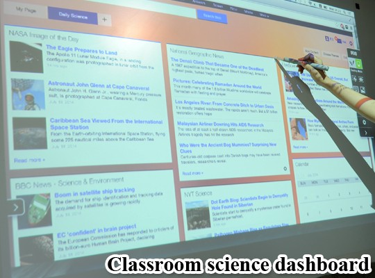 Develop an interactive dashboard for the class