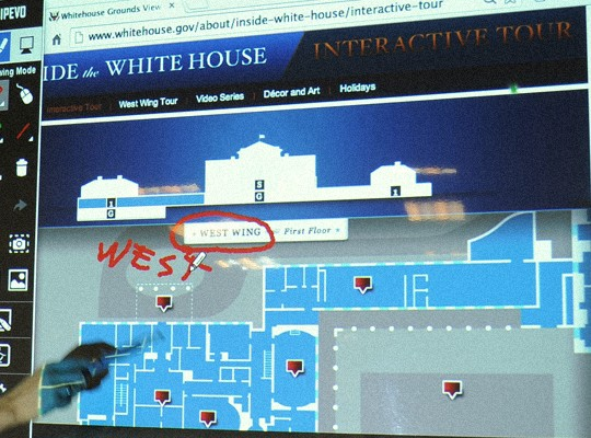 This interactive tour of the White House is just one of many interactive tours you can take of famous and noteworthy places.