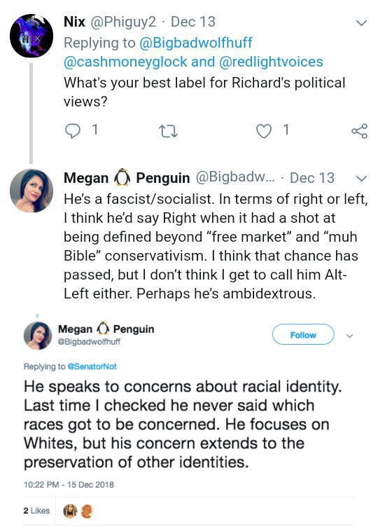 """He's a fascist/socialist. In terms of right or left, I think he'd say Right when it had a shot at being defined beyond…"